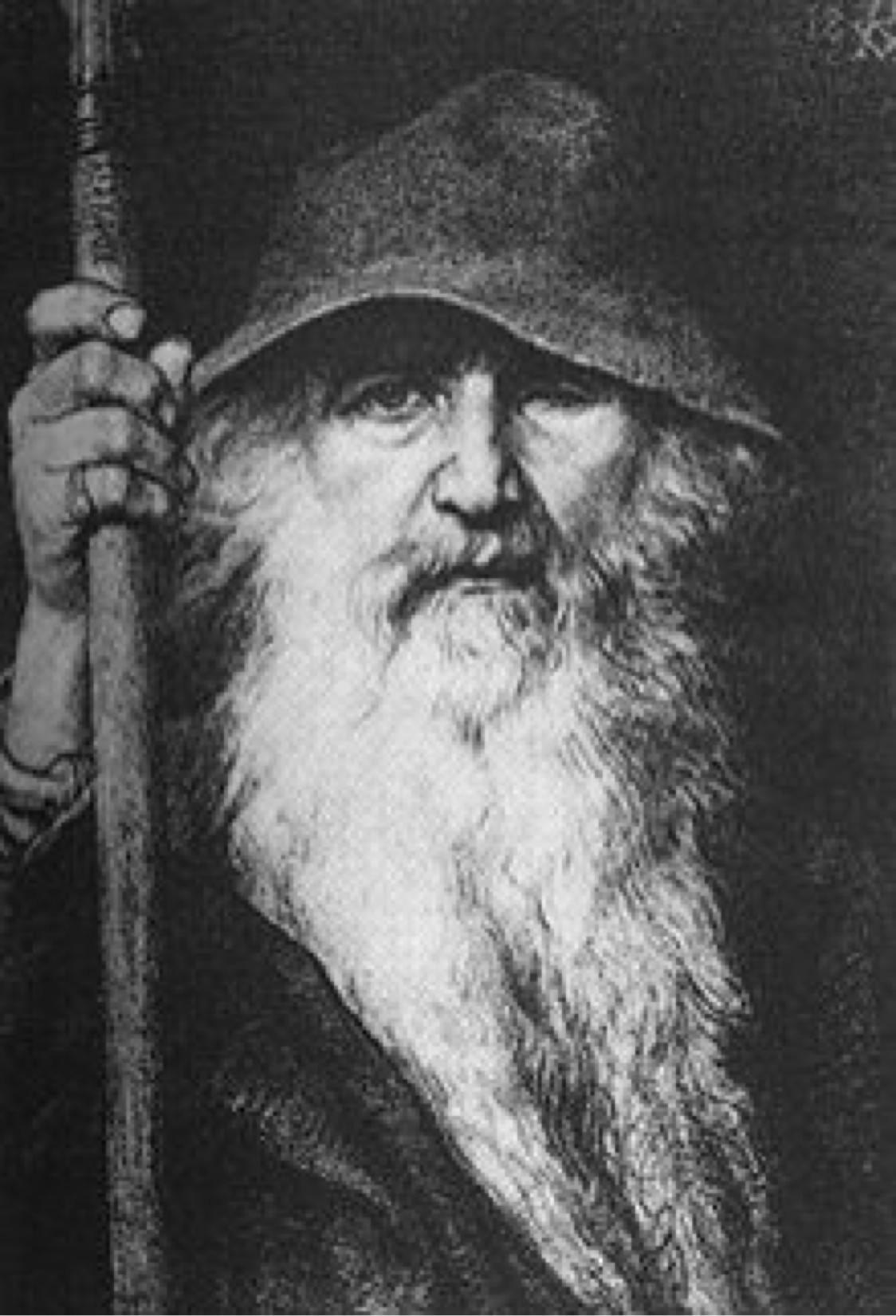 Portrait Of Germanic God Odin