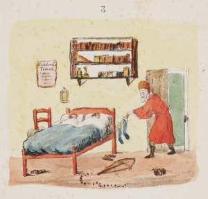 1821 Santeclaus With Stockings At Bed Arthur Stansbury The Children's Friend