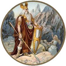 Chief Germanic God Odin Wild Hunt