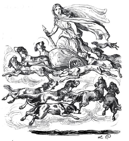Chief Germanic God Odins Female Companion Berchta