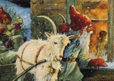 Jultomten With Julbok