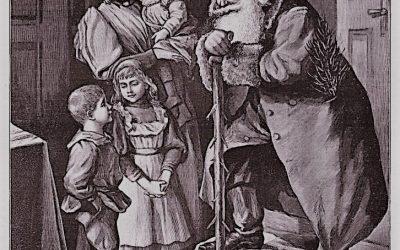 Knecht Ruprecht in Berfegenbeit 1890