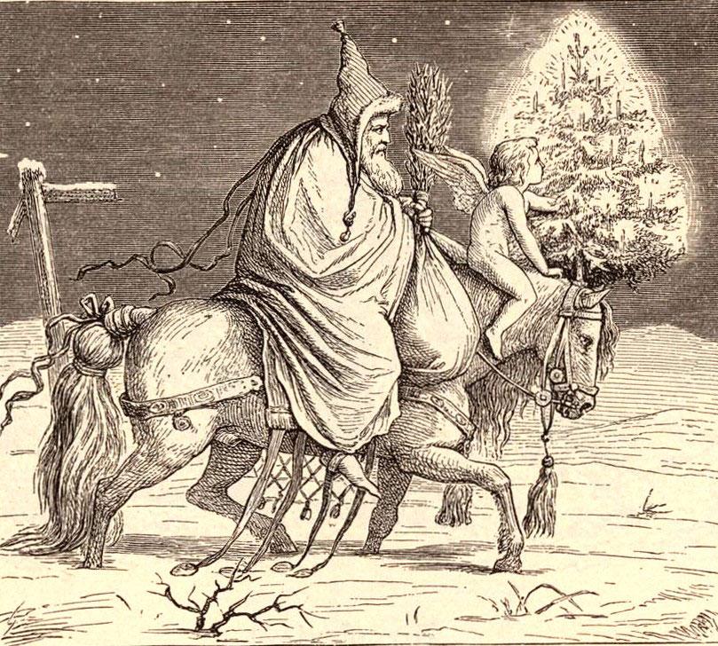 Knecht Ruprecht Und Das Christkind 1848