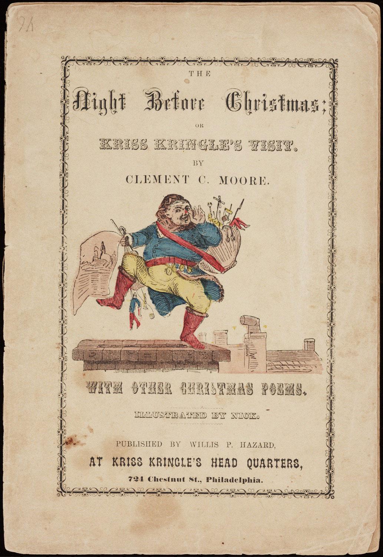 Kriss Kringle The Night Before Kris Kringle S Visit 1858