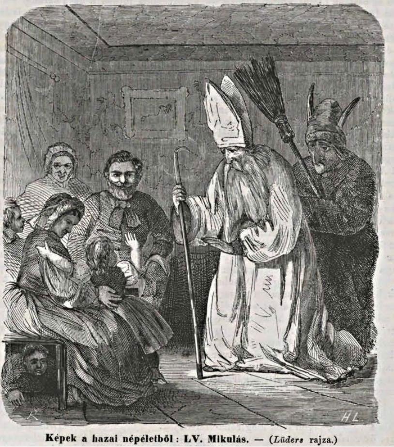 Mikulás And Krampusz 1865