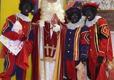 Modern Sinterklaas And Black Peters