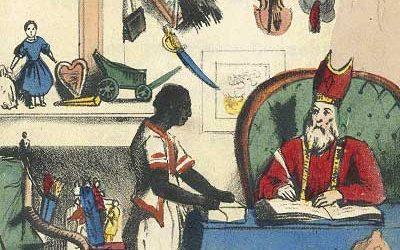 Sint Nikolaas en zijn Knecht Jan Schenkman 1850