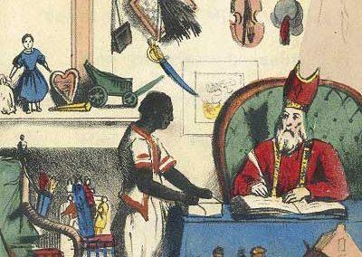 Sint Nicholas And Knecht Jan Schenckman Sint Nicholas En Zijn Knecht 1850