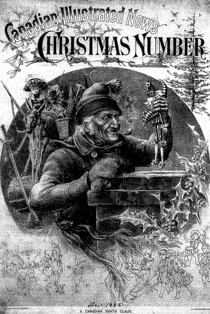 Canadian Santa Canadian Illustrated News Cover December 1885