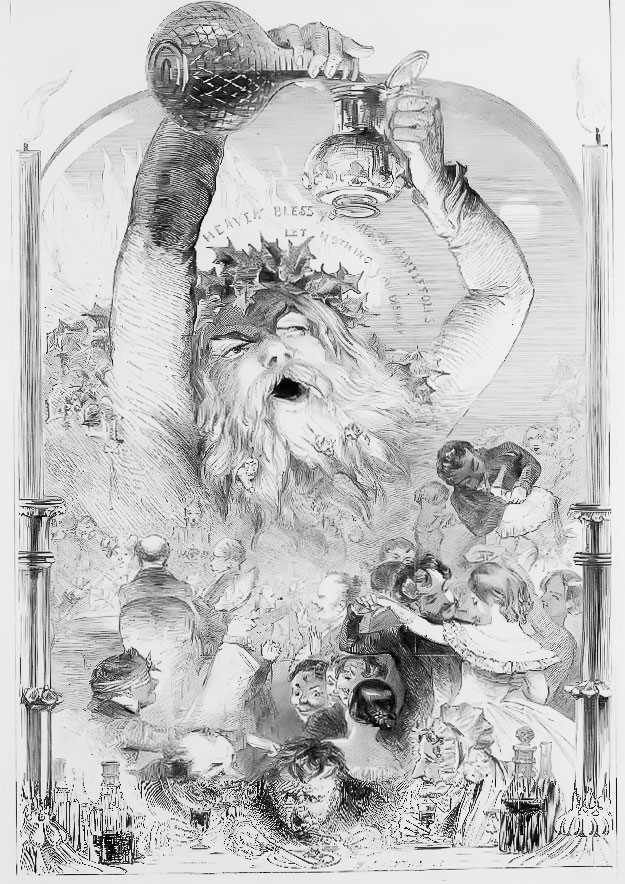 Father Christmas Kenny Meadows Illustrated London News December 25 1847