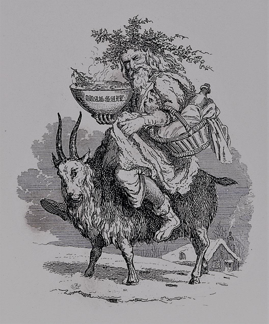 Old Christmas Robert Seymour Hervey S Book Of Christmas 1836
