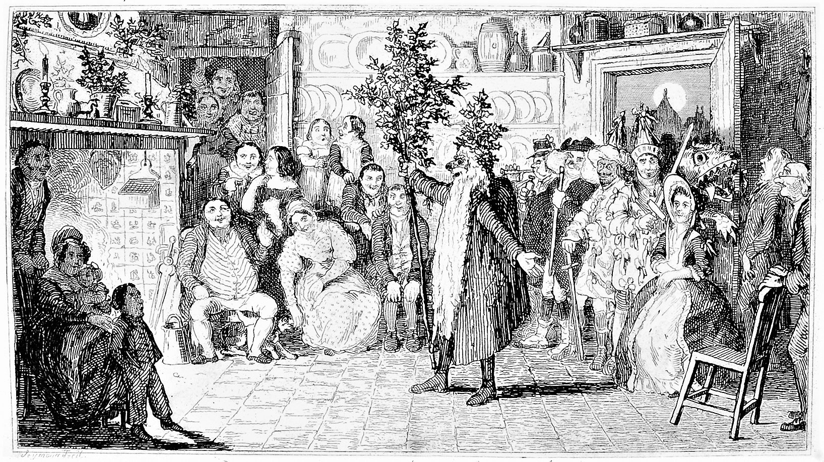 Old Christmas With Mummers Robert Seymour Hervey S Book Of Christmas 1836