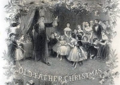 Old Father Christmas Godey S Lady S Book 1867