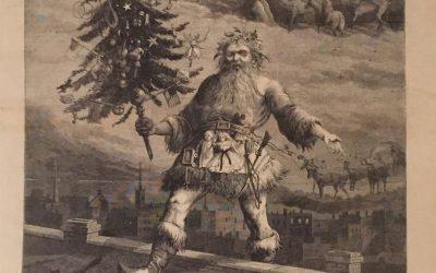 Santa in tutu: Harper's Weekly, cover, January 2, 1869