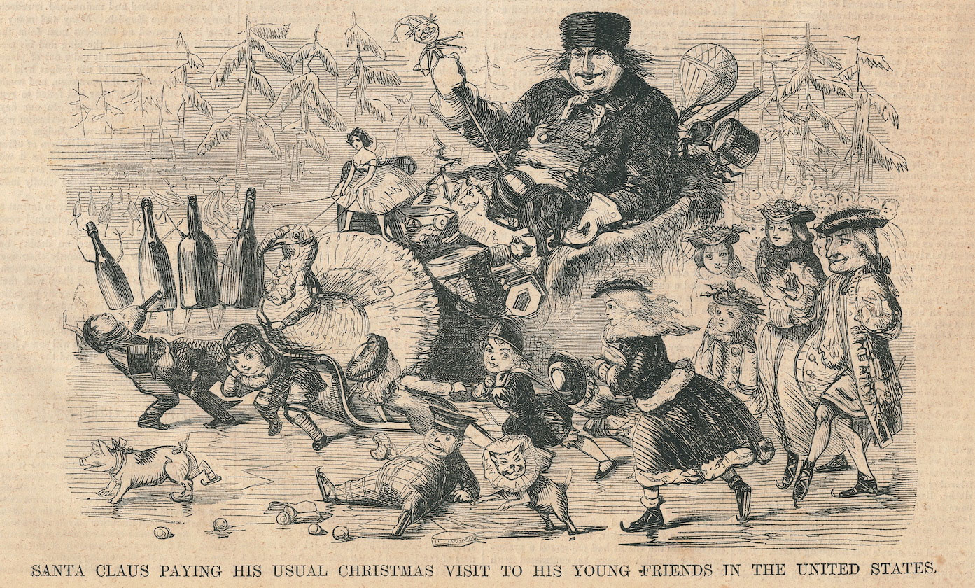 Santa With Turkey Harper S Weekly Cover December 25 1858