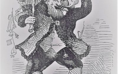 St. Nicholas Jumping Into Air By Theodore E.  Boyd, A Visit from St. Nicholas, 1848